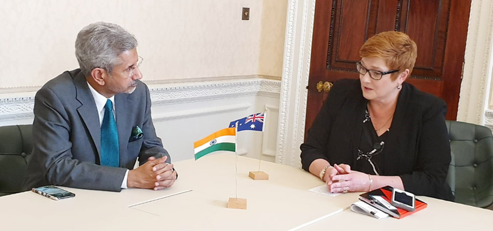 External Affairs Minister meets Marise Payne, Foreign Minister of Australia in London