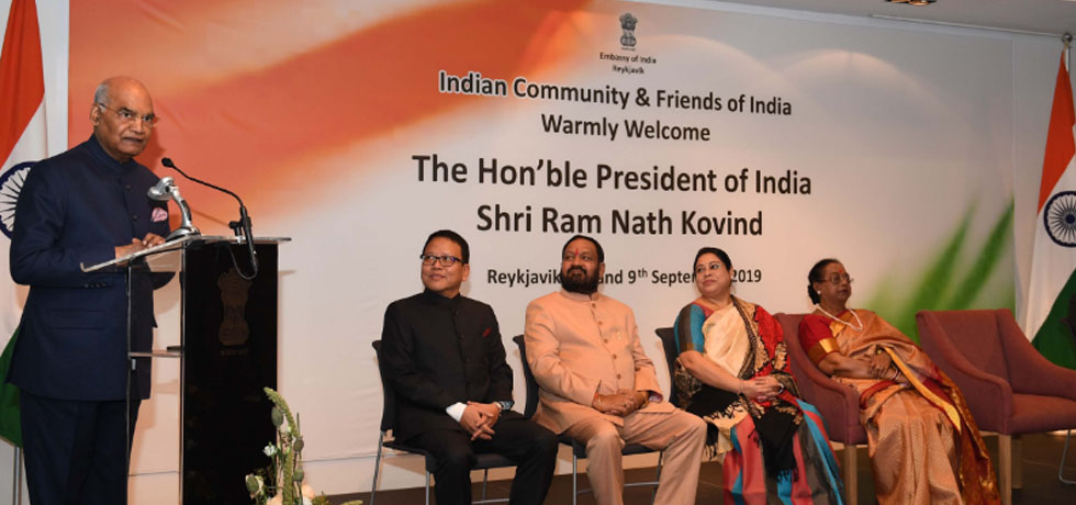 President addresses the Indian Community in Iceland