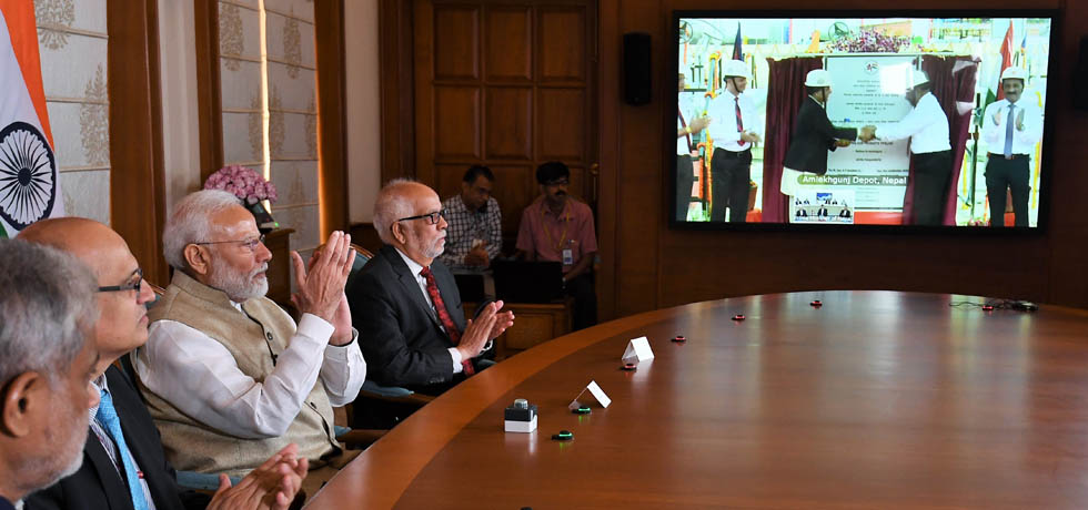 Prime Minister and KP Sharma Oli, Prime Minister of Nepal jointly inaugurate cross-border petroleum products pipeline via video conference