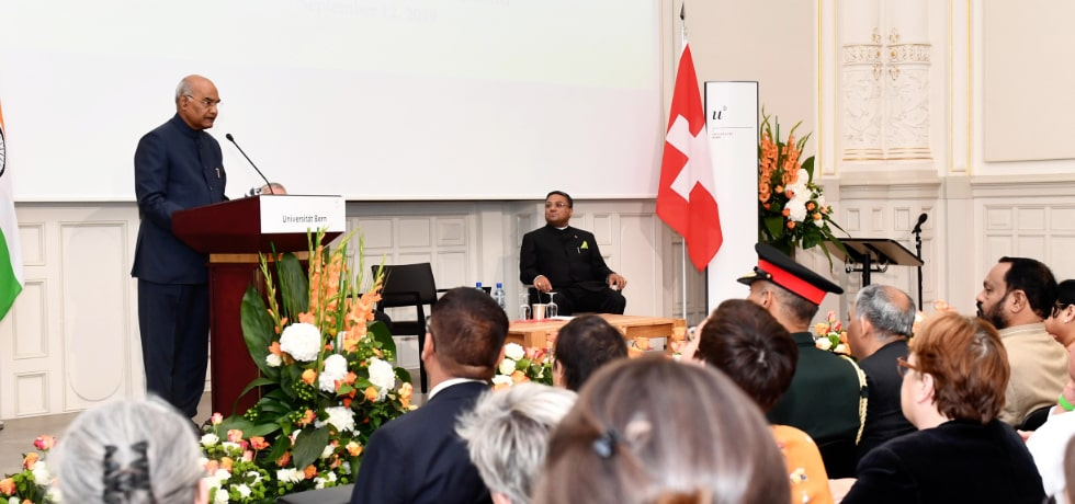 President delivers his address at University of Berne during his visit to Switzerland