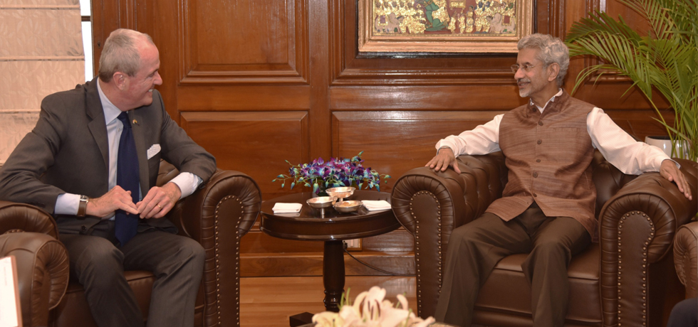 External Affairs Minister meets Phil Murphy, Governor of New Jersey in New Delhi
