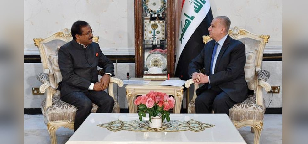 Minister of State for External Affairs meets Mohamad Ali Alhakim, Minister for Foreign Affairs of Iraq in Iraq