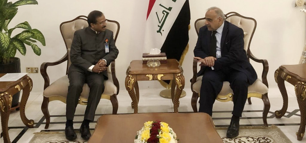 Minister of State for External Affairs calls on Adil Abdul Mahdi, Prime Minister of Iraq in Iraq