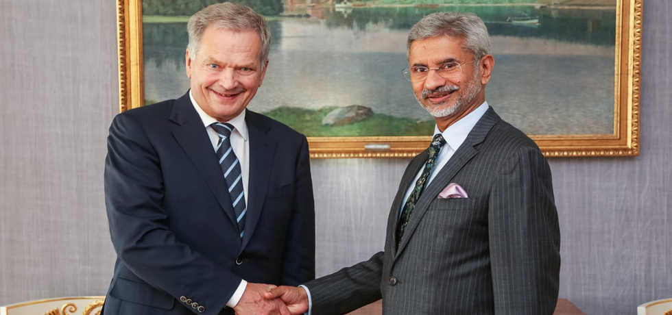 External Affairs Minister calls on Sauli Niinistö, President of Finland during his Official Visit to Finland