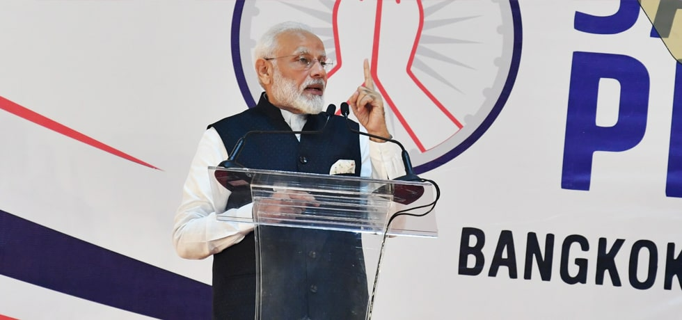 Prime Minister addresses Indian Community in Bangkok during his visit to Thailand