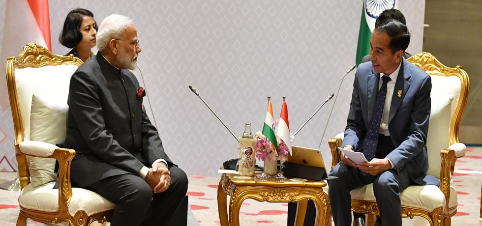 Prime Minister meets Joko Widodo, President of Indonesia on the sidelines of 16th India-ASEAN Summit in Bangkok