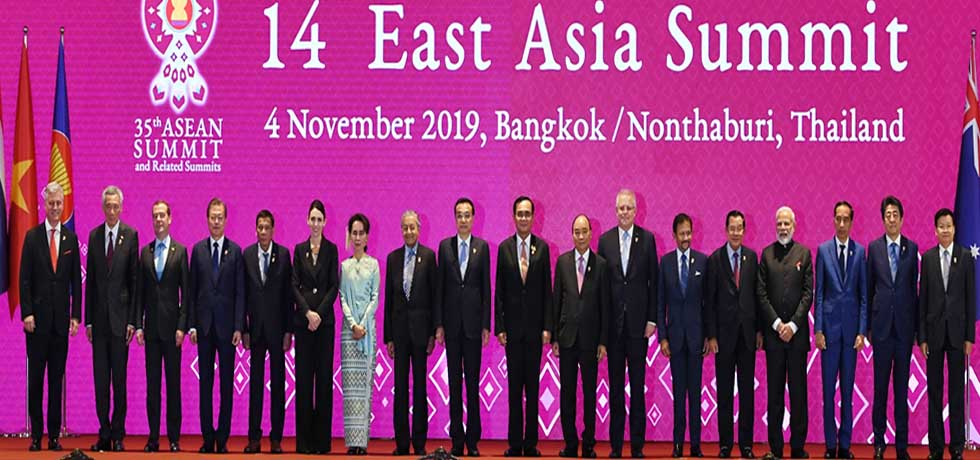 Group Photo of Heads of State/Heads of Government at 14th East Asia Summit in Bangkok
