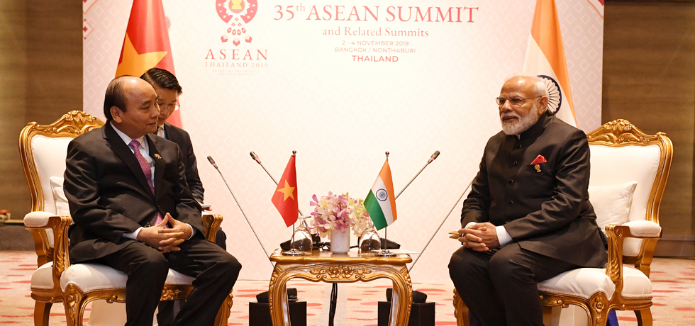 Prime Minister meets Nguyen Xuan Phuc, Prime Minister of Vietnam on the sidelines of 35th ASEAN Summit 2019 in Bangkok