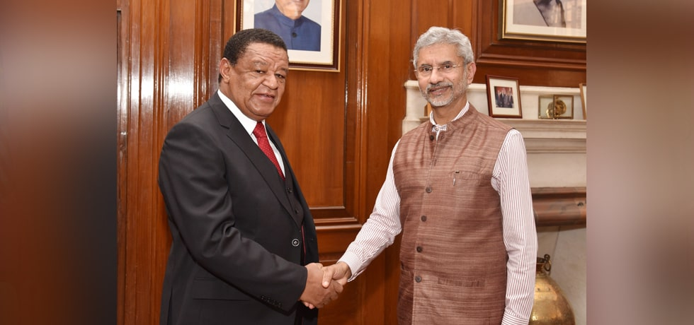 External Affairs Minister meets Mulatu Teshome, Special Envoy of Ethiopian Prime Minister in New Delhi