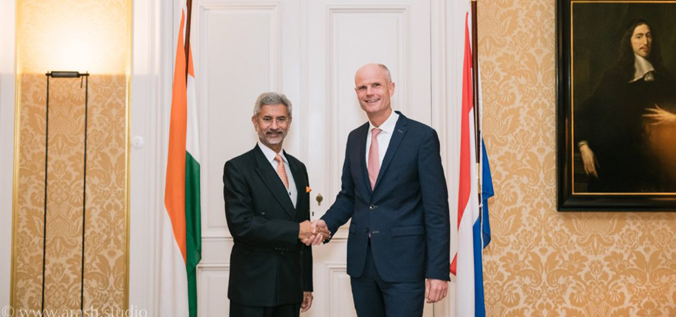 External Affairs Minister meets Stef Blok, Minister of Foreign Affairs of Netherlands during his visit to Netherlands
