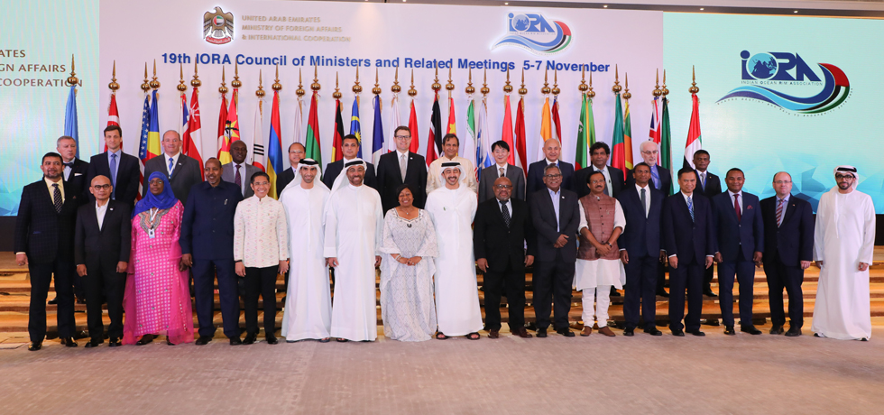 Group photo of participants of 19th IORA Council of Ministers in Abu Dhabi