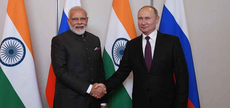 Prime Minister meets Vladimir Putin, President of Russia on the sidelines of 11th BRICS Summit in Brasilia
