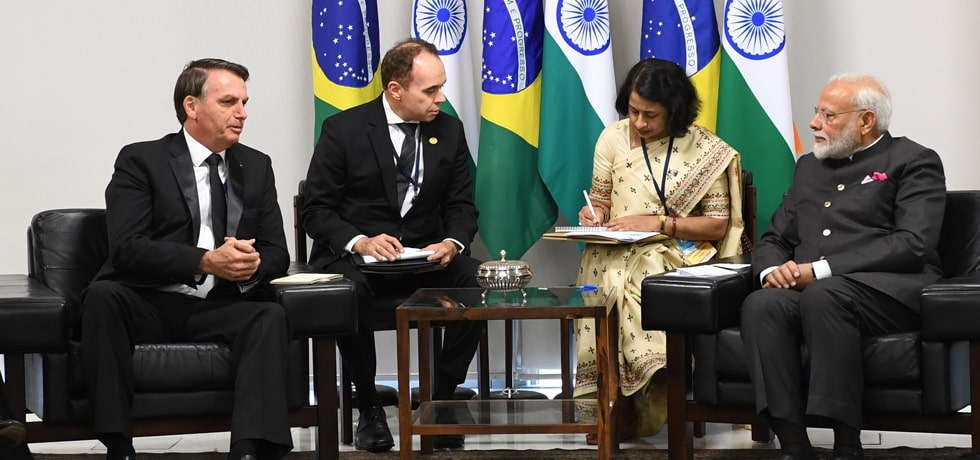 Prime Minister meets Jair Messias Bolsonaro, President of Brazil on the sidelines of 11th BRICS Summit in Brasilia
