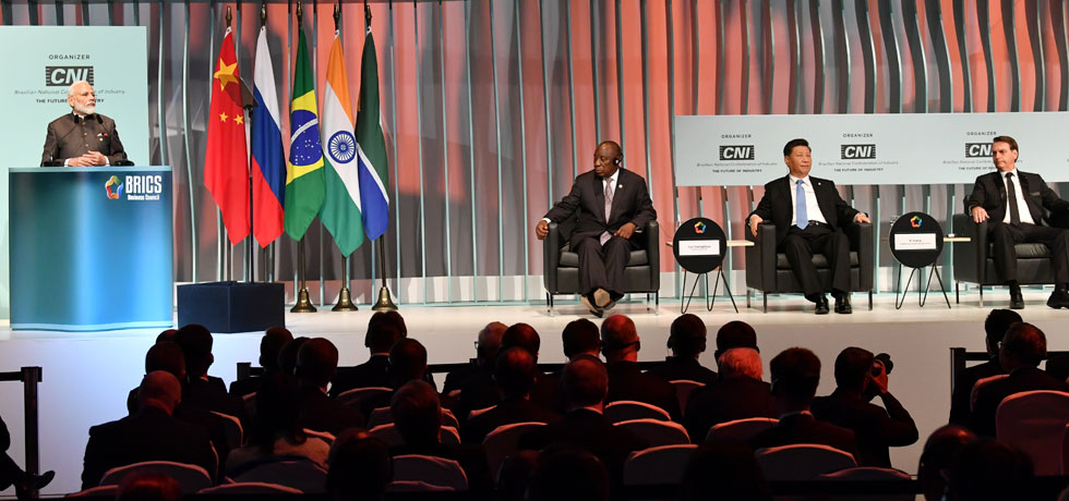 Prime Minister delivers his address at BRICS Business Forum in Brasilia
