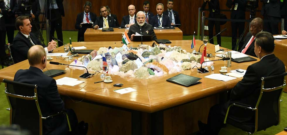 Prime Minister attends Plenary session of 11th BRICS summit in Brasilia