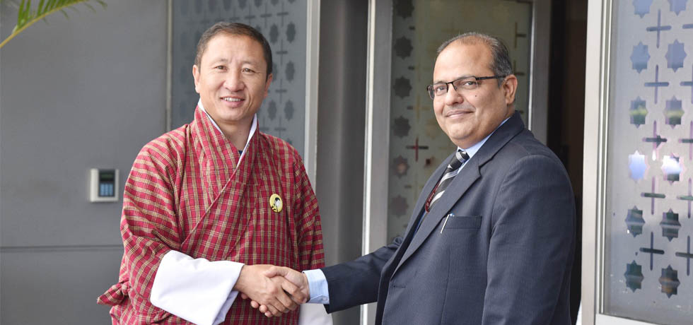 Dr. Tandi Dorji, Foreign Minister of Bhutan arrives in New Delhi