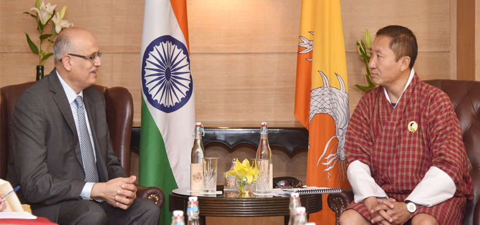 Foreign Secretary calls on Dr. Tandi Dorji, Foreign Minister of Bhutan in New Delhi
