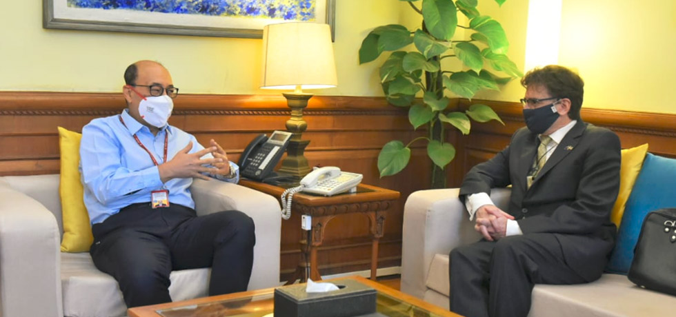 Foreign Secretary meets David Pine, High Commissioner of New Zealand to India in New Delhi