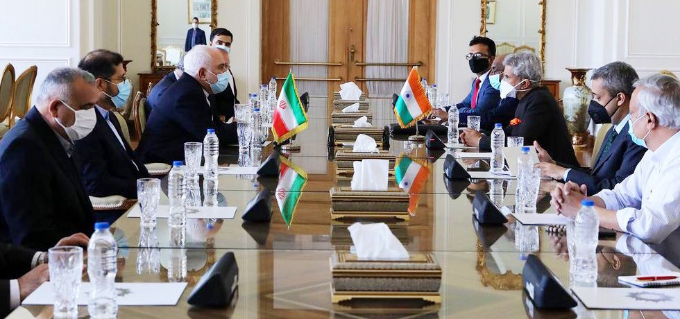 External Affairs Minister meets Dr. Mohammad Javad Zarif, Foreign Minister of Iran in Tehran