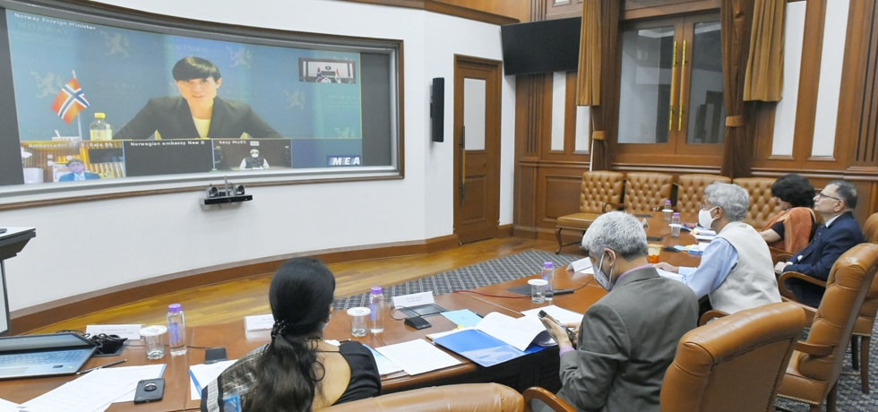 External Affairs Minister at the India-Norway Joint Commission Meeting