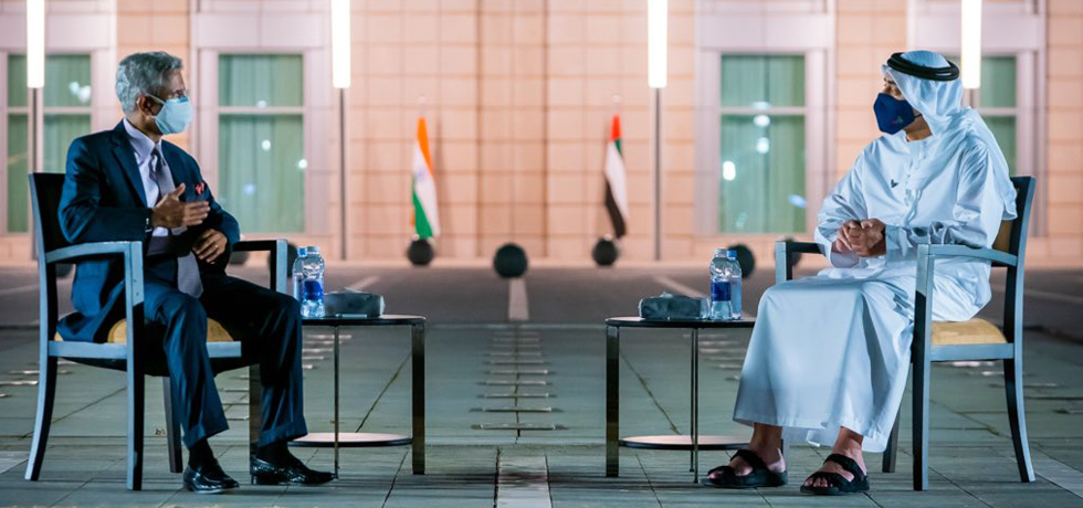 External Affairs Minister meets HH Sheikh Abdullah bin Zayed Al Nahyan, Minister of Foreign Affairs and International Cooperation of UAE in Abu Dhabi