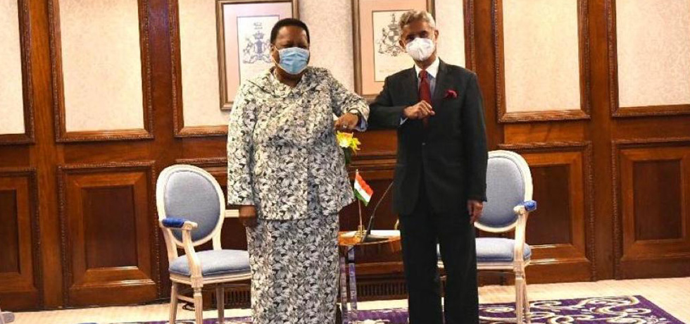 External Affairs Minister meets Dr Naledi Pandor, Foreign Minister of South Africa