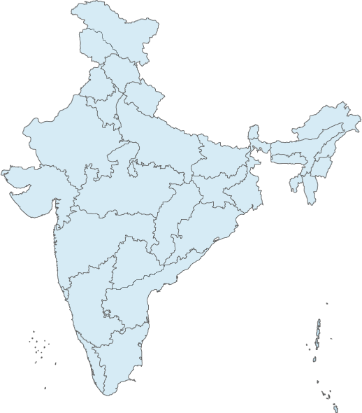 India Map With All States.Glance India Mea