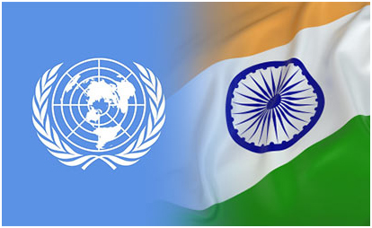 Image result for indian flag in UN