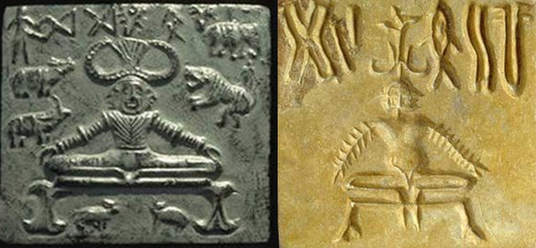 Image result for indus valley yogic figures